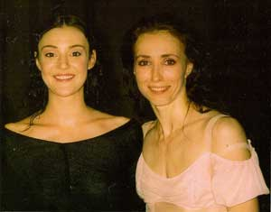 Nicole Ransley with Sylvie Guillem